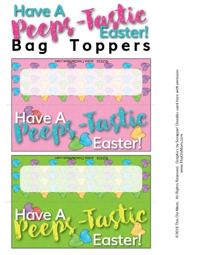 Easter Downloadable Bag Toppers