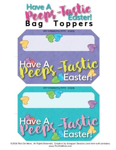 Peeps Gift Bag Topper