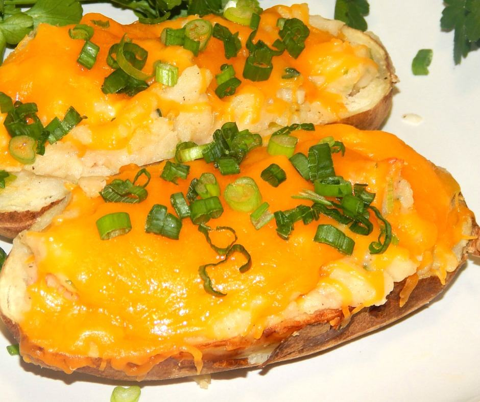 Stuffed Shrimp Potatoes with Cheese