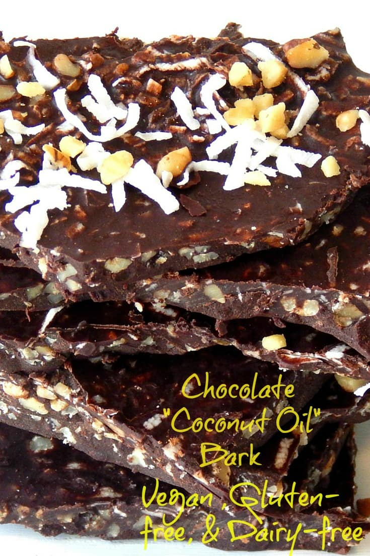 Good For You Coconut Oil Chocolate Bark