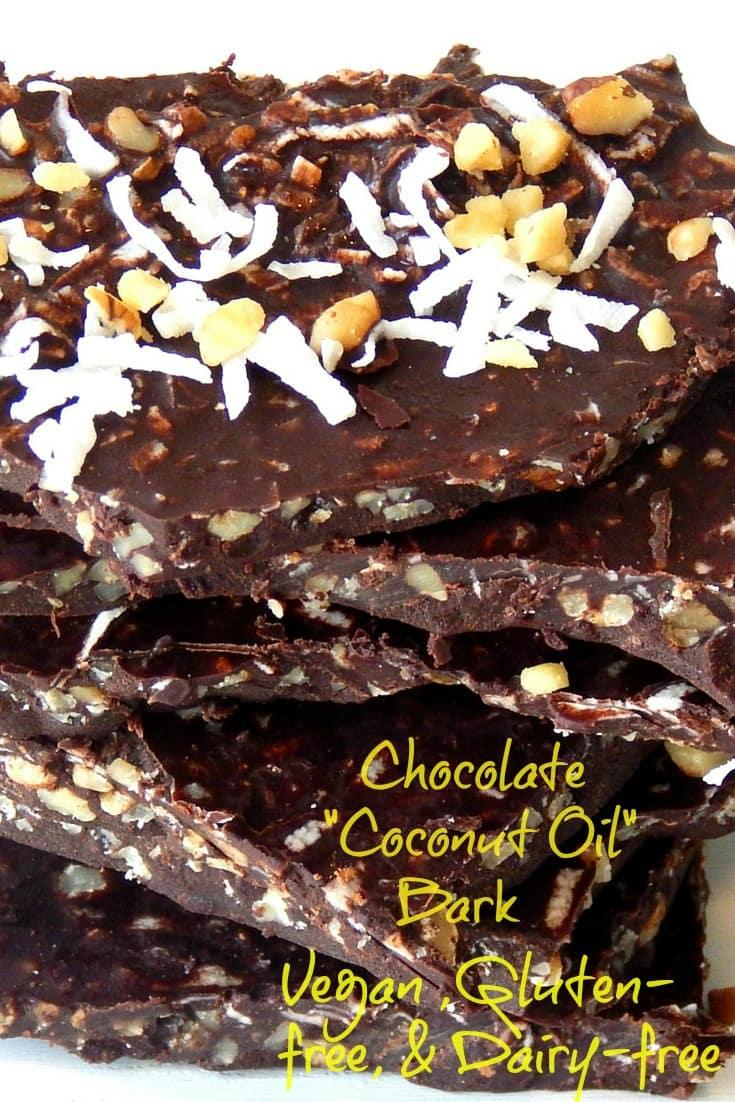 Healthy Coconut Oil Chocolate Bark