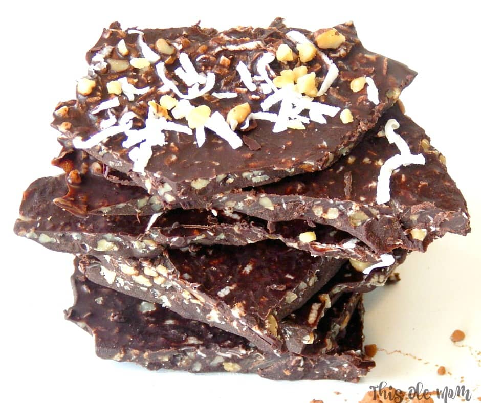Coconut Oil Chocolate Bark