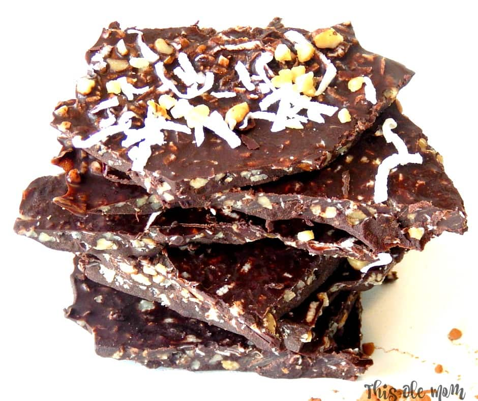 "Good For You ""Coconut Oil"" Chocolate Bark"