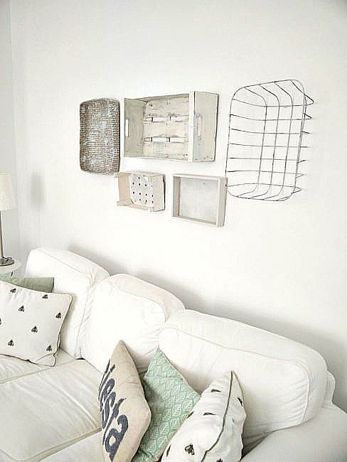 Simple Rustic Crate and Basket wall