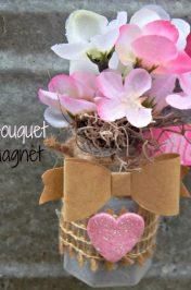 Flower Bouquet Fridge Magnet Craft