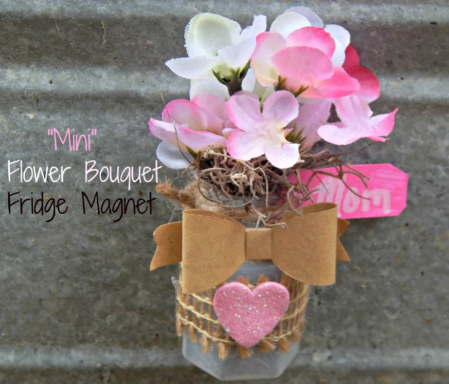 Flower Bouquet Fridge Magnet Craft