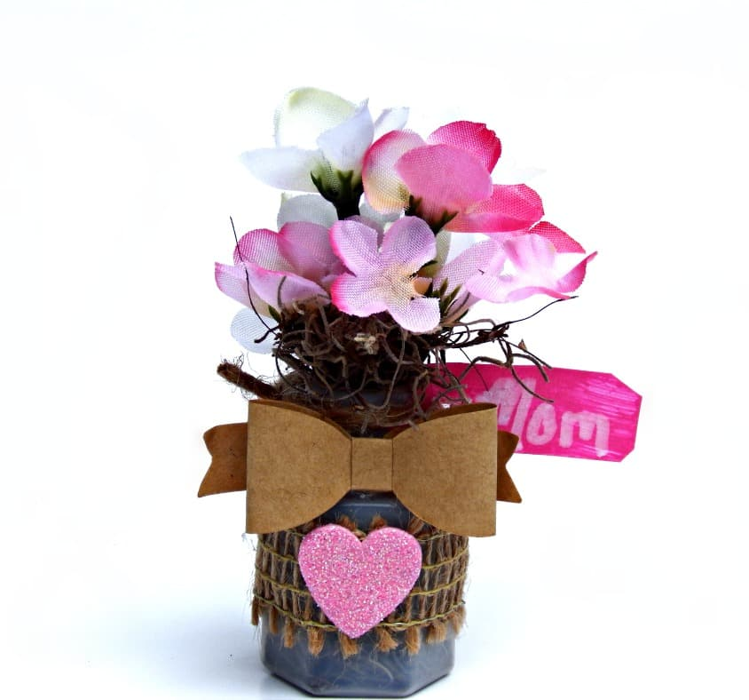 DIY Flower Bouquet Mini Magnet Craft