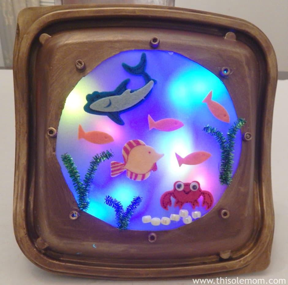 Coolest Upcycled Porthole Fish Night Light