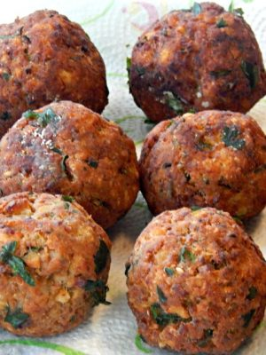 Remove grease from Shrimp Balls