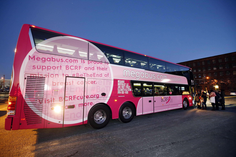 Megabus goes Pink for Cancer Awareness
