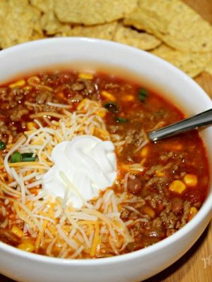 Slow Cooker Taco Soup