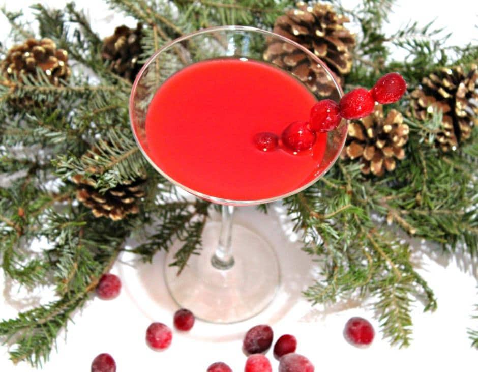 Cranberry Atomic Fireball Holiday Martini