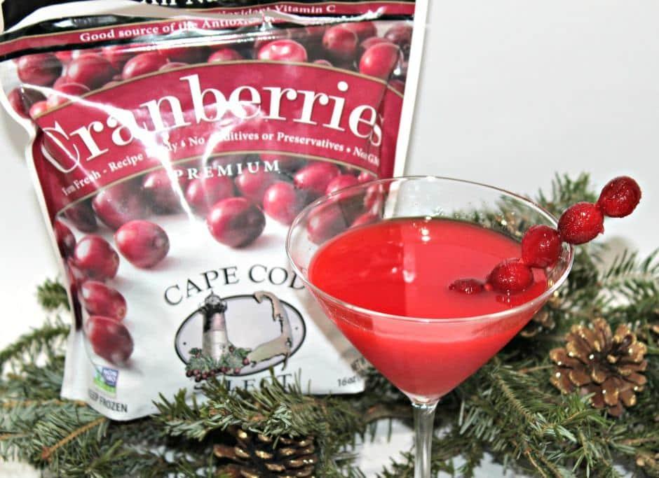 Cranberry Atomic Fireball Martini