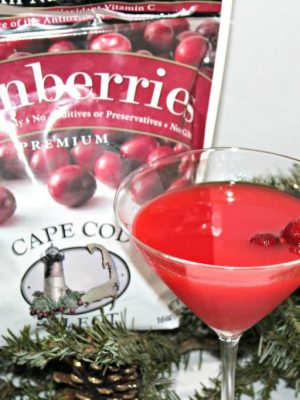 Cranberry Atomic Fireball Martini