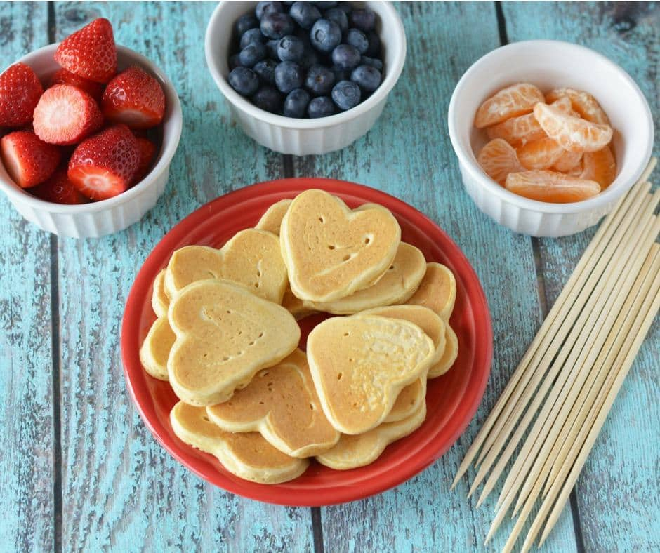 Fruit and Pancake Kabobs