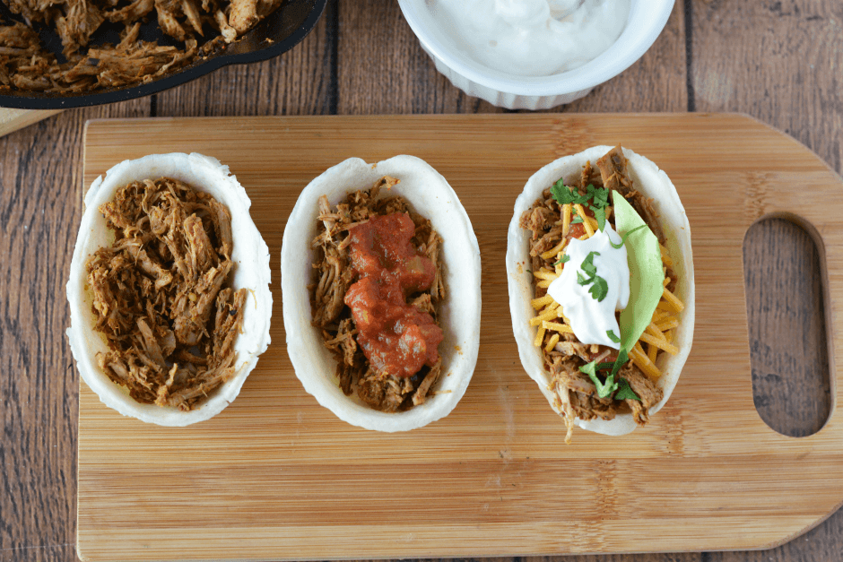 Pork Taco Mini Boats