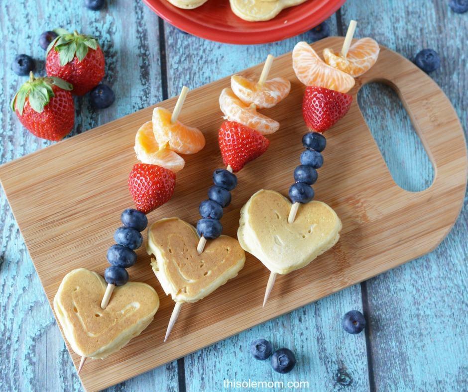 Valentine Cupid Arrow Pancake Fruit Kabob