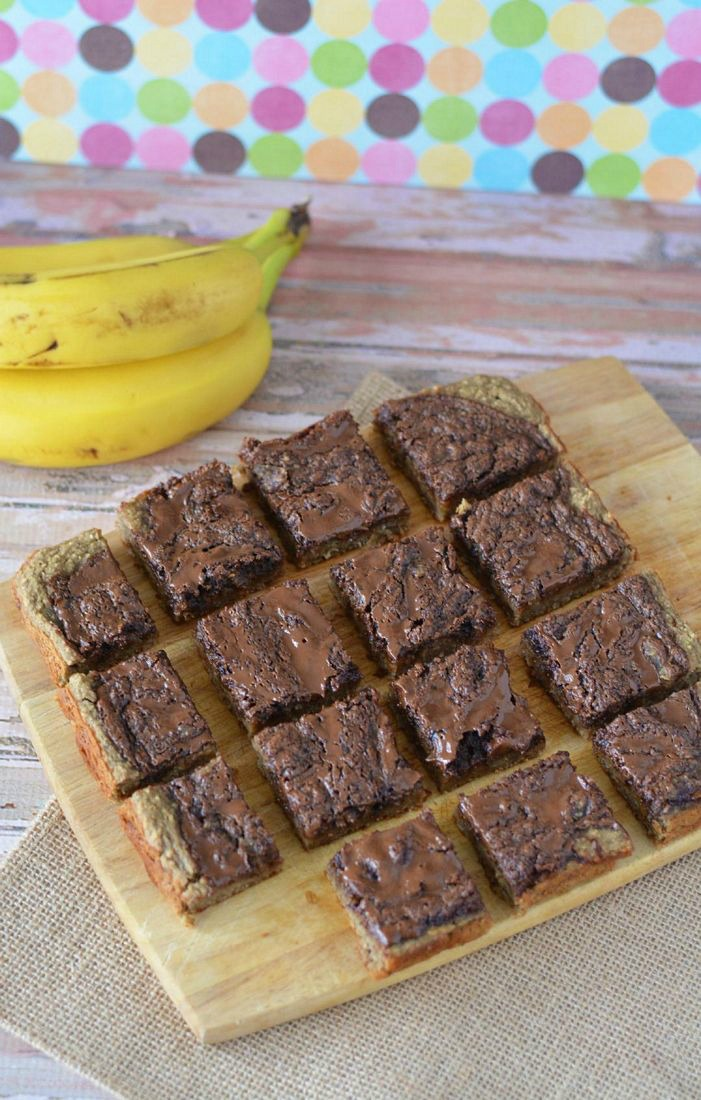 Gluten Free Chocolate Banana Bars on Chopping Block