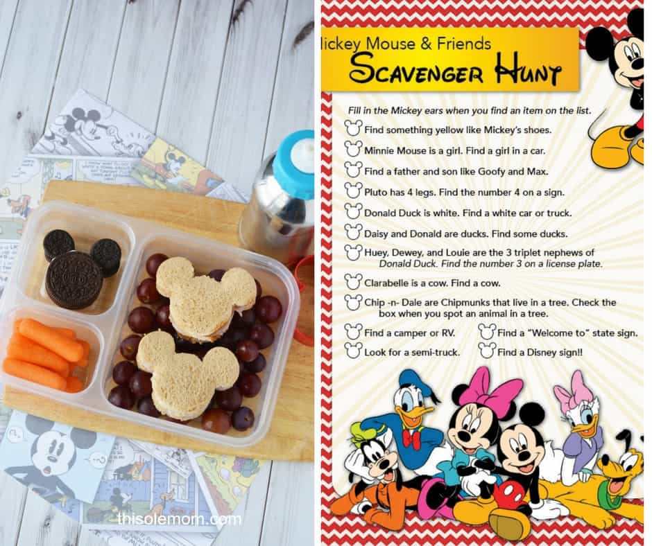 ickey Mouse snack and printable