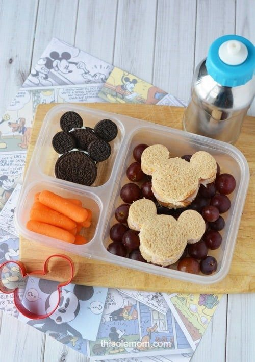 Mickey Mouse Lunch Idea Plus Free Printable