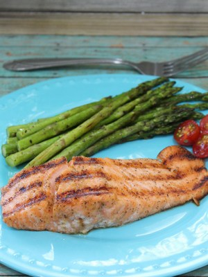 Indoor Grilled Cajun Salmon Recipe
