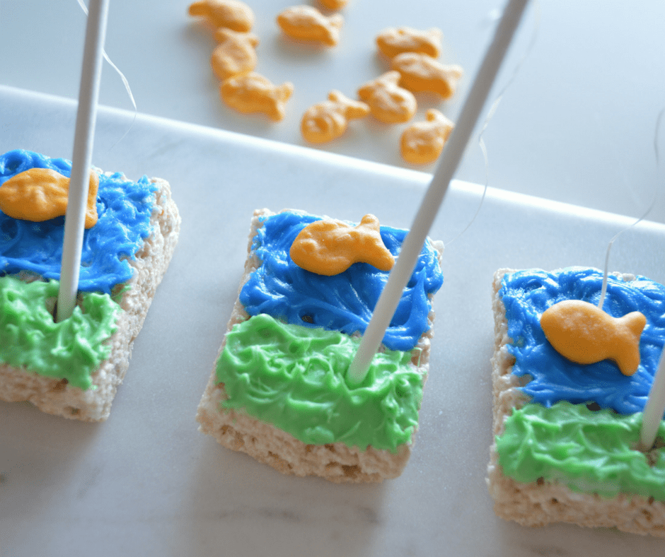 Gone Fishing Rice Krispies Treats