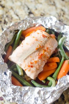 Asian Salmon Foil Pack