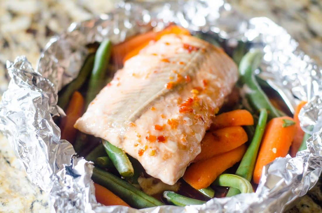 Asian Salmon Foil Pack