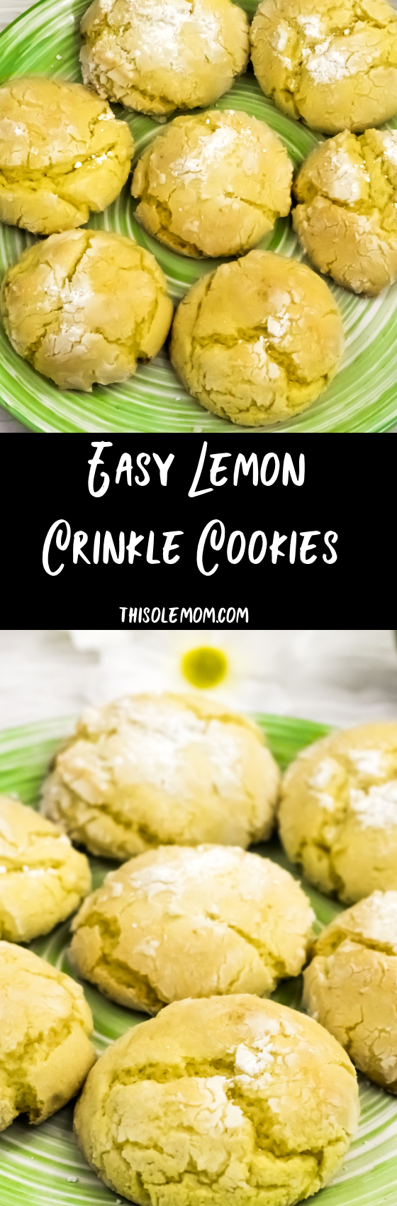 Easy Lemon Crinkle Cookies ... chewy and delicious!
