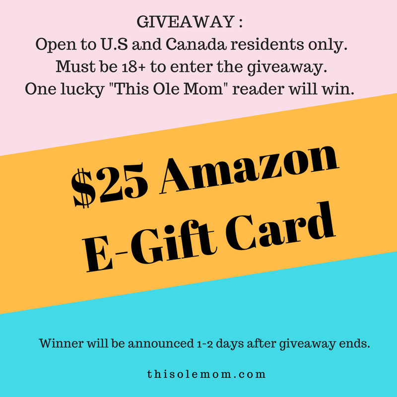 #25 Amazon e- gift card giveaway