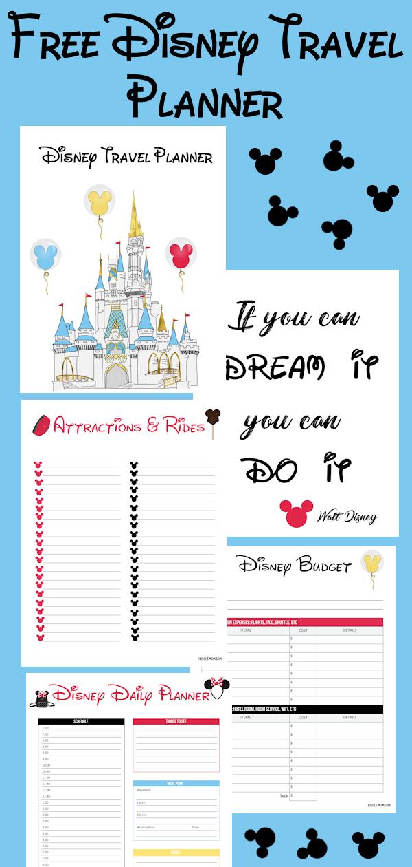 Disney Travel Planner (Free Printable Planner)