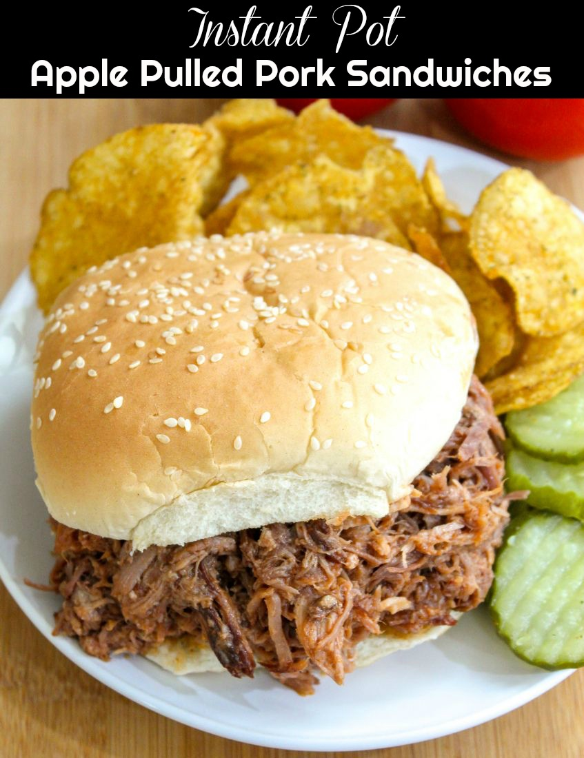 Instant Pot Apple Pulled Pork Sandwiches