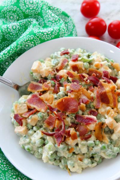 Summer Bacon Pea Salad