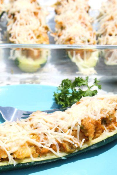Crawfish Stuffed Zucchini