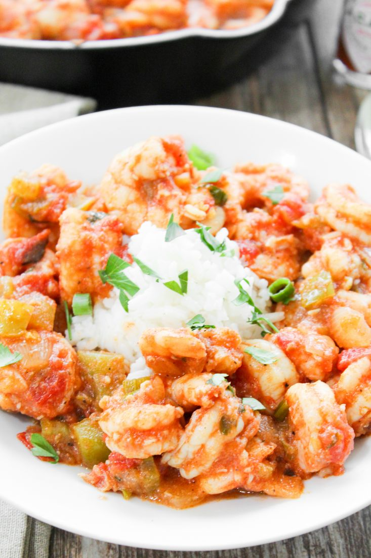 Cajun Spicy Shrimp With Rice