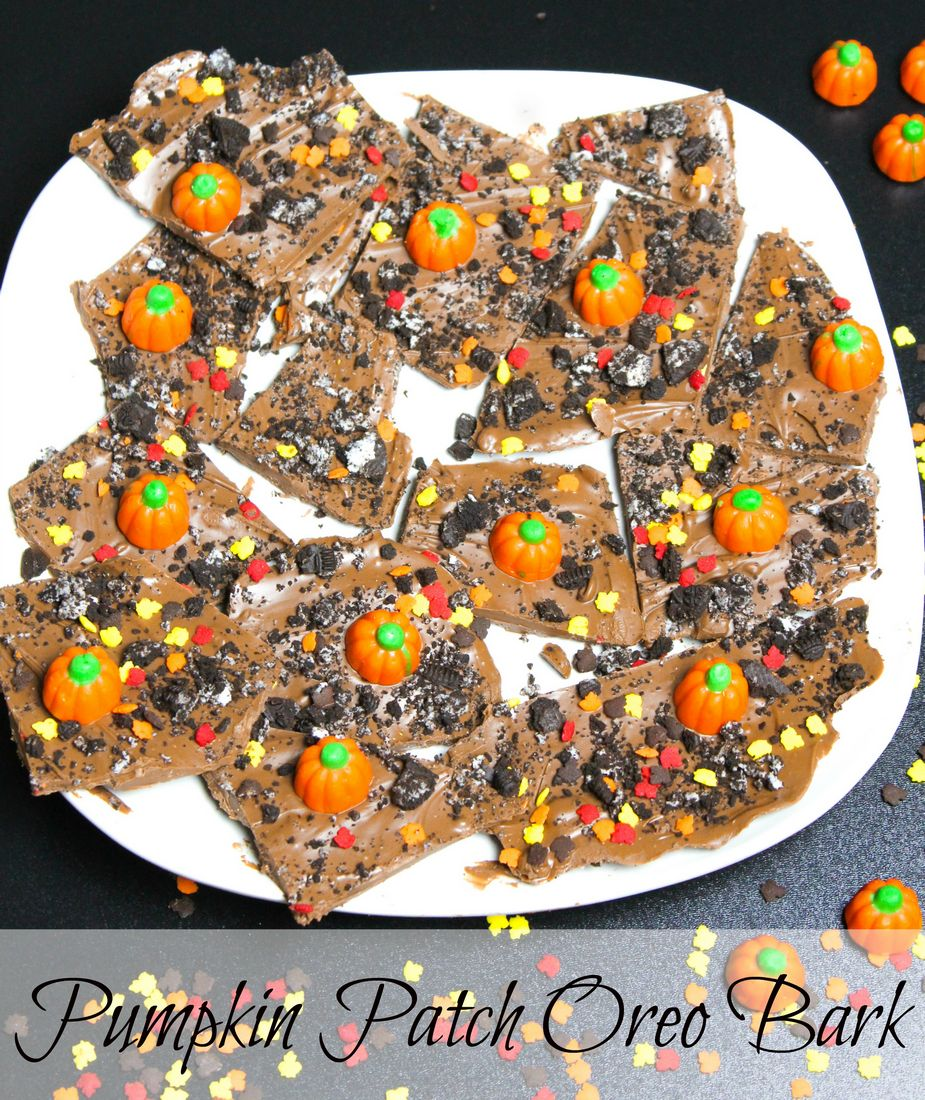 Pumpkin Patch Oreo Bark