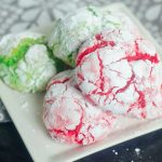 Cake Mix Christmas Crinkle Cookies