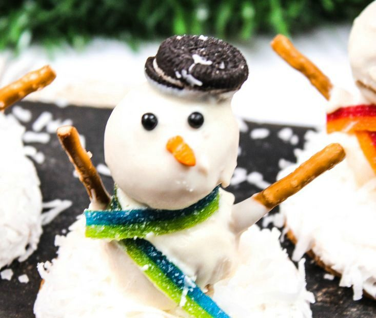 No Bake Melting Snowman Cookies