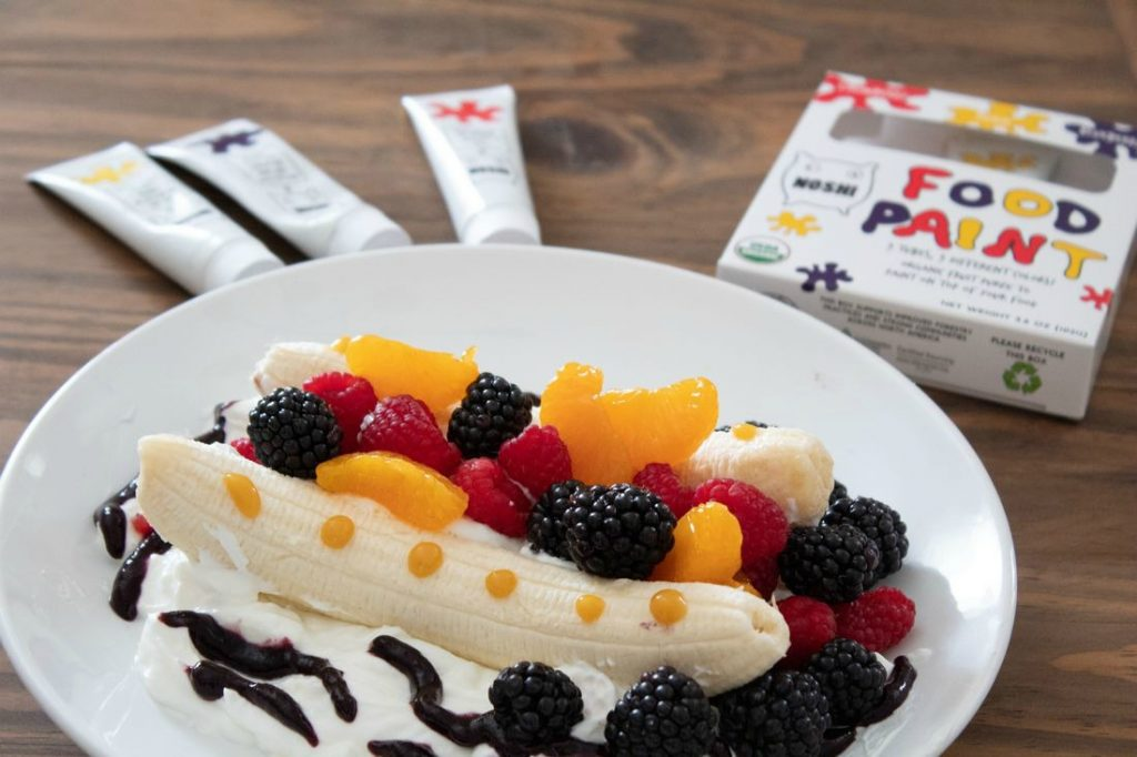 Breakfast Boats with Greek Yogurt and fruit