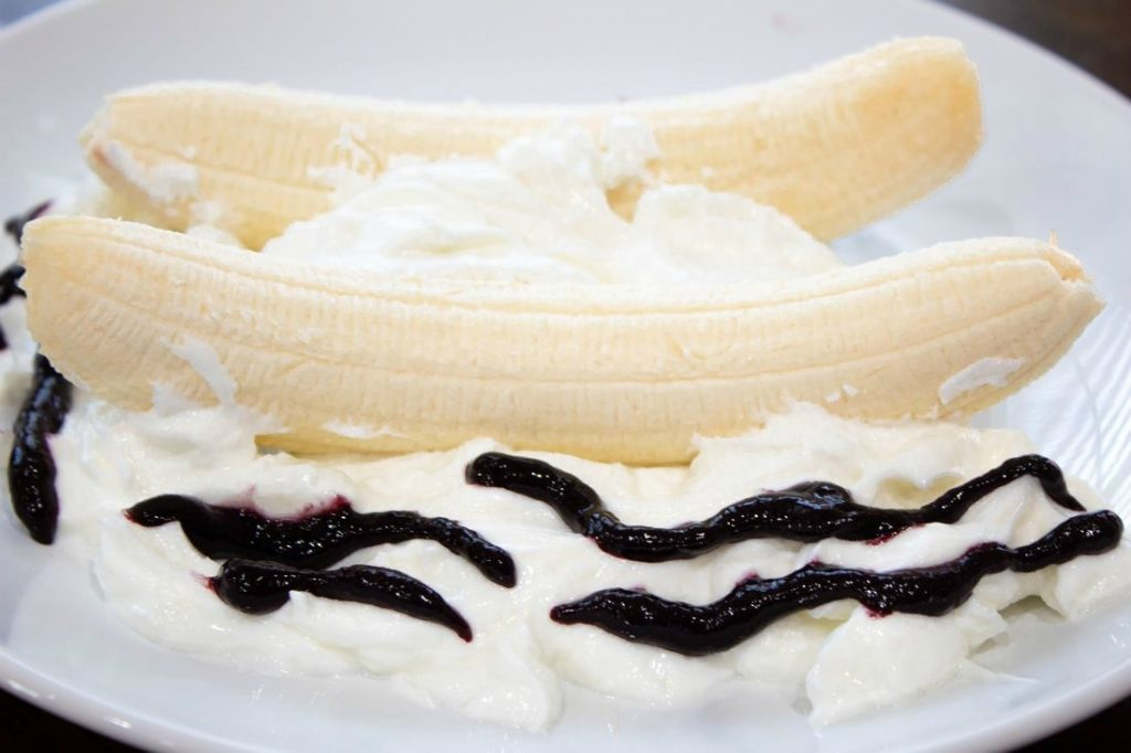 Bananas with Greek Yogurt