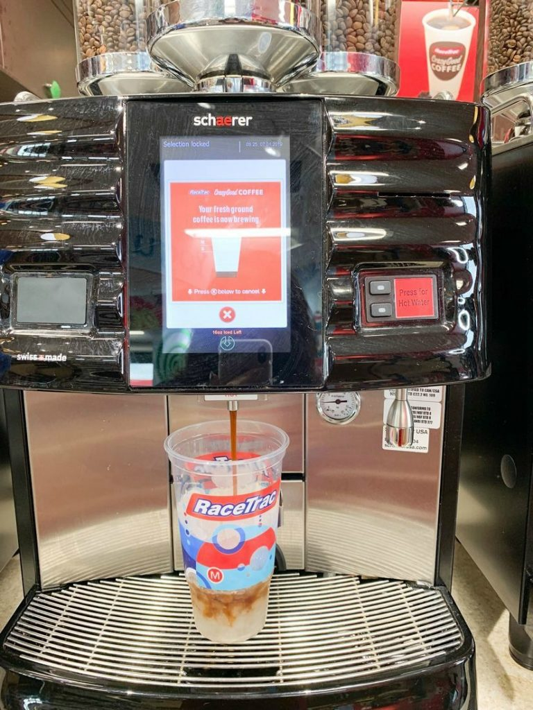 RaceTrac Bean To Cup Coffee Machines - This Ole Mom