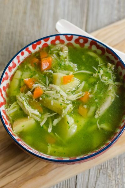 Instant Pot Peruvian Rotisserie Chicken Soup
