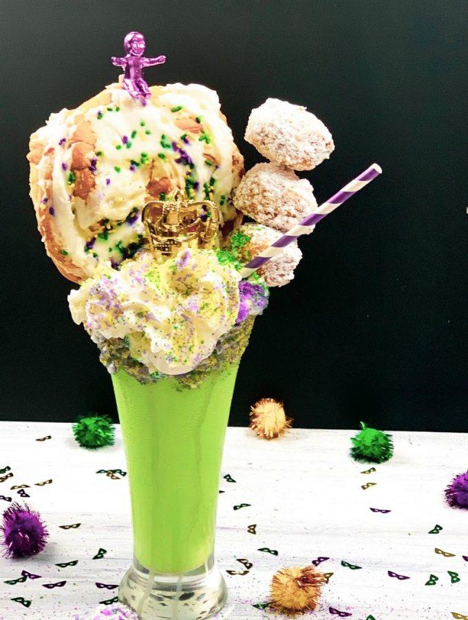 Mardi Gras King Cake Milkshake