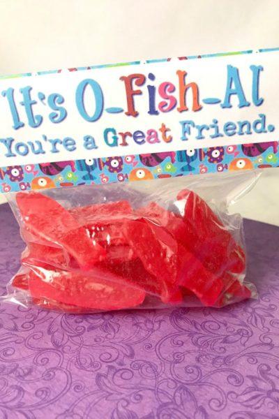 Swedish Fish Valentines Printable Bag Toppers