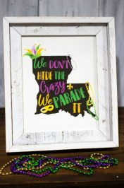 Mardi Gras Printable Subway Art
