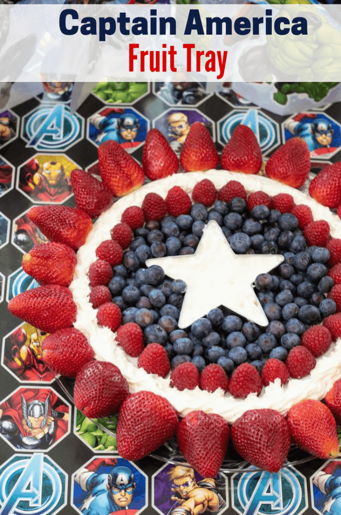 Captain America Fruit Tray