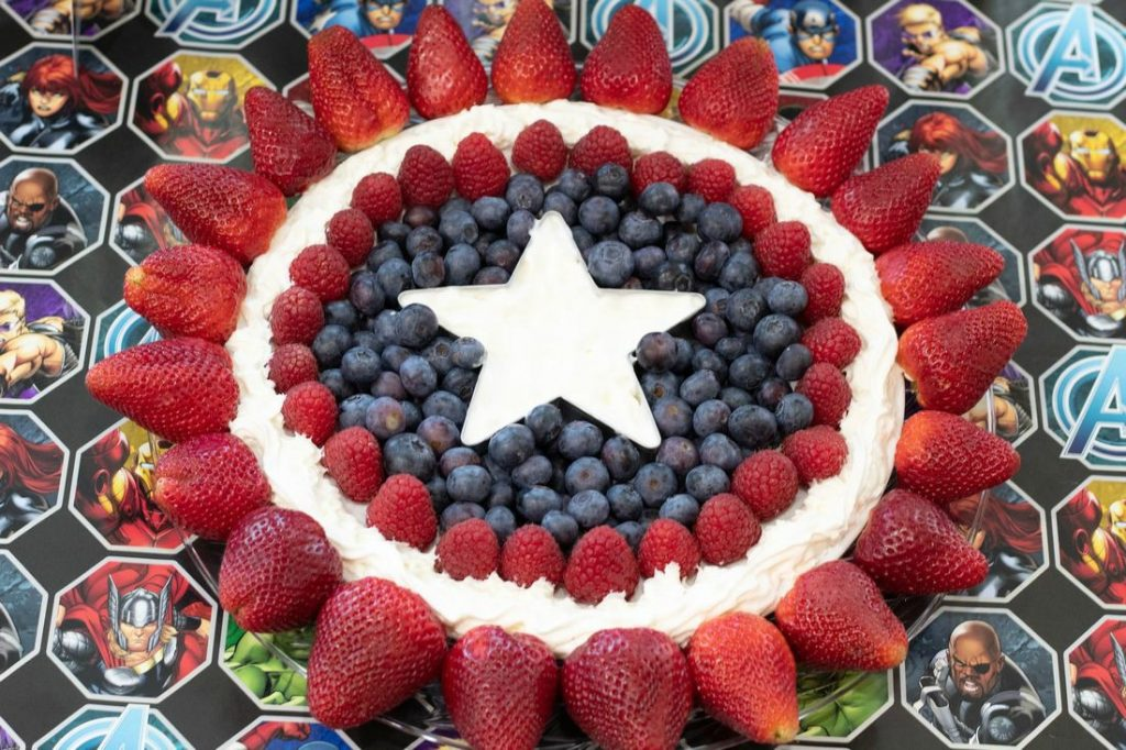 Captain America Fruit Tray This Ole Mom