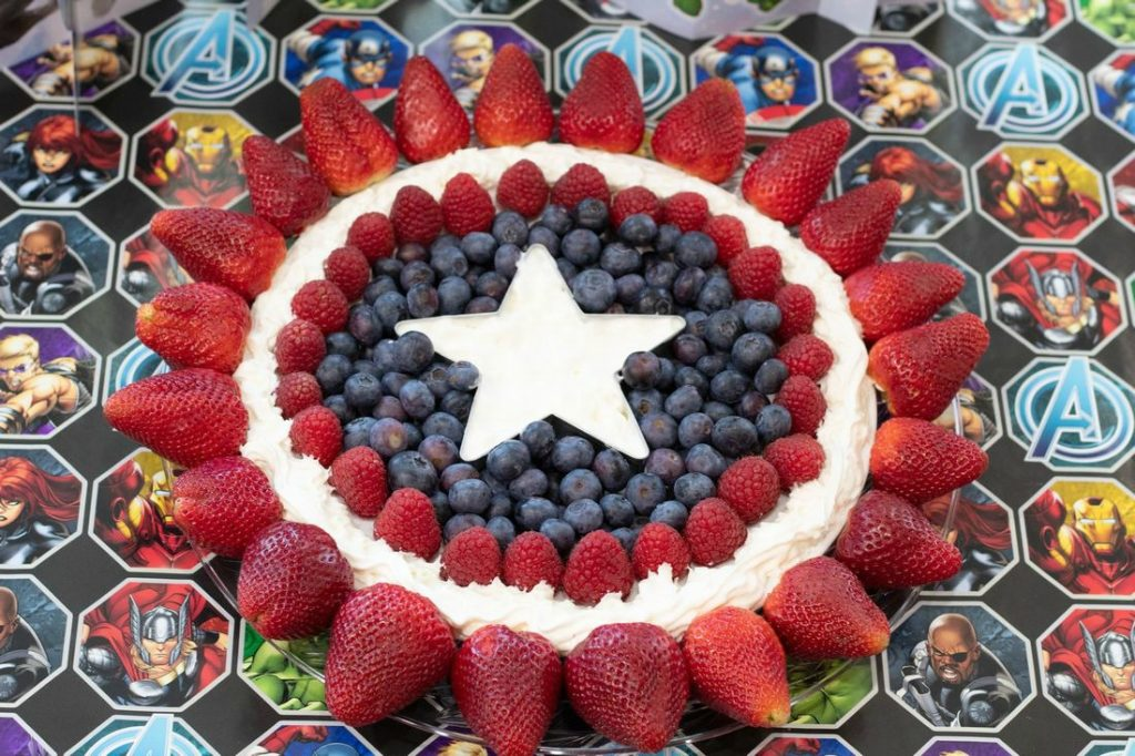 Captain America Fruit Tray  with Fruit Dip