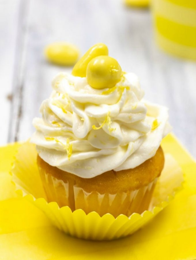 Lemoncello Almond Cupcakes