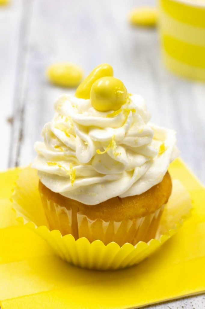 Lemoncello Almond Cupcakes